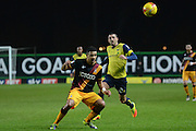 Bradford City defender James Meredith (3) on the attack 0-0 during the EFL Trophy match between Oxford United and Bradford City at the Kassam Stadium, Oxford, England on 31 January 2017. Photo by Alan Franklin.