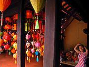 Vietnam, Hoi An:traditional lamp shop.