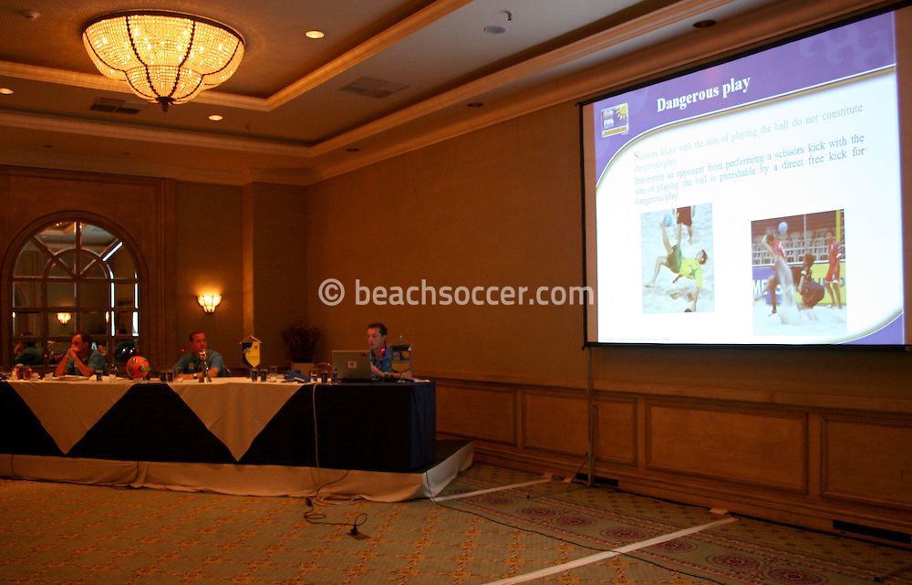 Football - FIFA Beach Soccer World Cup 2006 - Team Coordination Meeting for Group Stage - Rio de Janeiro - Brazil 01/11/2006 - <br />
