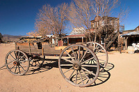 Wagon and Old Western Buildings, Pioneertown, California