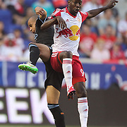Bradley Wright-Phillips, New York Red Bulls, in action during the New York Red Bulls Vs NYCFC, MLS regular season match at Red Bull Arena, Harrison, New Jersey. USA. 10th May 2015. Photo Tim Clayton