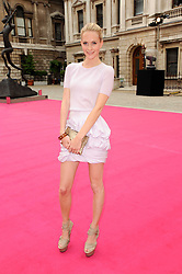 POPPY DELEVINGNE at the Royal Academy of Arts Summer Party held at Burlington House, Piccadilly, London on 9th June 2010.