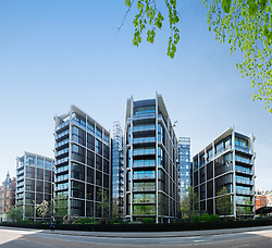 Luxury apartment buildings at One Hyde Park in Knightsbridge London United Kingdom