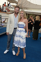 The Johnnie Walker Blue Label and David Gandy Drinks Reception aboard John Walker & Sons Voyager, St.Georges Stairs Tier, Butler's Wharf Pier, London, UK on 16th July 2013.<br /> Picture Shows:-Anthony Howell, Miranda Raison