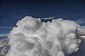 CUMULUS CLOUDS VIEWED FROM HIGH ALTITUDE
