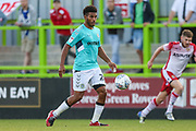 Forest Green Rovers Reuben Reid(26) on the ball during the EFL Sky Bet League 2 match between Forest Green Rovers and Stevenage at the New Lawn, Forest Green, United Kingdom on 21 August 2018.