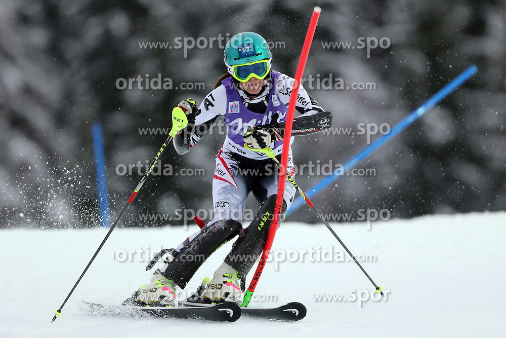 05.01.2014, Stelvio, Bormio, ITA, FIS Ski Alpin Weltcup, Salom, Damen, 1. Durchgang, im Bild Carmen Thalmann // Carmen Thalmann in action during 1st run of ladies Slalom of the Bormio FIS Ski World Cup at the Stelvio Course in Bormio, Italy on 2014/01/05. EXPA Pictures &copy; 2014, PhotoCredit: EXPA/ Sammy Minkoff<br /> <br /> *****ATTENTION - OUT of GER*****