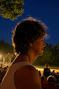 Active Aging Senior Citizens, Retired, Activities, Elderly Woman at Outing, Fireworks
