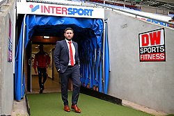 Bristol City head coach Lee Johnson arrives at the DW Stadium - Mandatory by-line: Matt McNulty/JMP - 11/03/2017 - FOOTBALL - DW Stadium - Wigan, England - Wigan Athletic v Bristol City - Sky Bet Championship