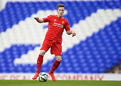 LONDON, ENGLAND - Friday, April 17, 2015: Liverpool's Ryan Kent in action against Tottenham Hotspur during the Under 21 FA Premier League match at White Hart Lane. (Pic by David Rawcliffe/Propaganda)