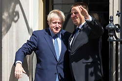 © Licensed to London News Pictures. 06/08/2019. London, UK. Prime Minister Boris Johnson meets Estonian Prime Minister Jüri Ratas in Downing Street. The meeting takes place during Ratas' private visit to London. Photo credit: George Cracknell Wright/LNP