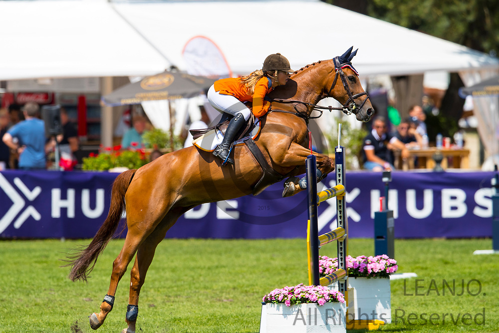 Delphine Klopper - Gladdys vd Lindehoeve<br /> Longines FEI European Championships 2018<br /> © DigiShots - Hippo Foto - Dirk Caremans