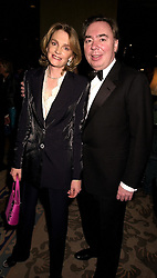 LORD & LADY ANDREW LLOYD-WEBBER at an award dinner in London on 15th November 2000.OJE 81