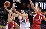 DESCRIZIONE : Berlino Berlin Eurobasket 2015 Group B Spain Serbia<br /> GIOCATORE : Pau Ribas<br /> CATEGORIA : Tiro Sottomano<br /> SQUADRA : Spain<br /> EVENTO : Eurobasket 2015 Group B<br /> GARA : Spain Serbia <br /> DATA : 05/09/2015<br /> SPORT : Pallacanestro<br /> AUTORE : Agenzia Ciamillo-Castoria/R.Morgano<br /> Galleria : Eurobasket 2015<br /> Fotonotizia : Berlino Berlin Eurobasket 2015 Group B Spain Serbia