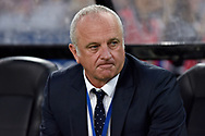 February 18, 2017:  Sydney FC coach Graham Arnold before the game at Round 20 of the 2016 Hyundai A-League match, between Western Sydney Wanderers and Sydney FC, played at ANZ Stadium in Sydney.