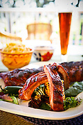 A plate-full of ribs, carefully prepared by Dr. Barbeque, for a Florida Winefest fund raiser.