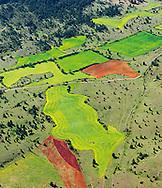 France, Languedoc Roussillon, Cevennes, Lozère, causse Méjean, région Montbrun, vue aérienne