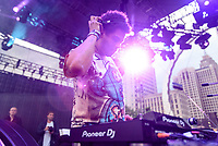 DETROIT – MAY 28: Seth Troxler performs on thestargate stage during the Movement Electronic Music Festival Sunday, May 28, 2017 at Hart Plaza in downtown Detroit. (Photo by Bryan Mitchell)
