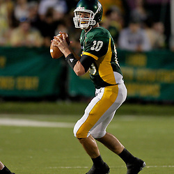 10 September 2009:  Southeastern Louisiana Lions quarterback Brian Babin (10) looks to throw during a game between Southeastern Louisiana University Lions and Union College at Strawberry Stadium in Hammond, Louisiana.