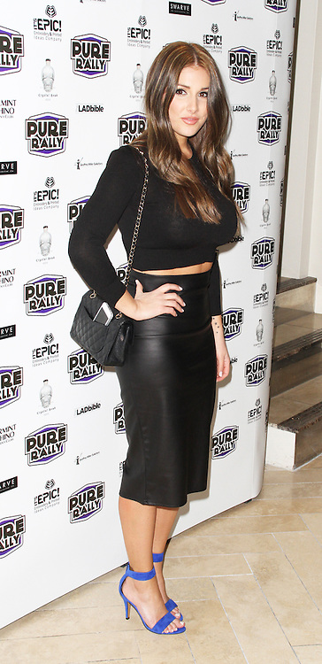 Lucy Pinder, Pure Rally - Launch Event, Avista Bar, London UK, 23 January 2014, Photo by Brett D. Cove