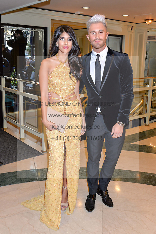 JASMIN WALIA and ROSS WORSWICK at the 6th annual Asian Awards held at The Grosvenor House Hotel, Park Lane, London on 8th April 2016.