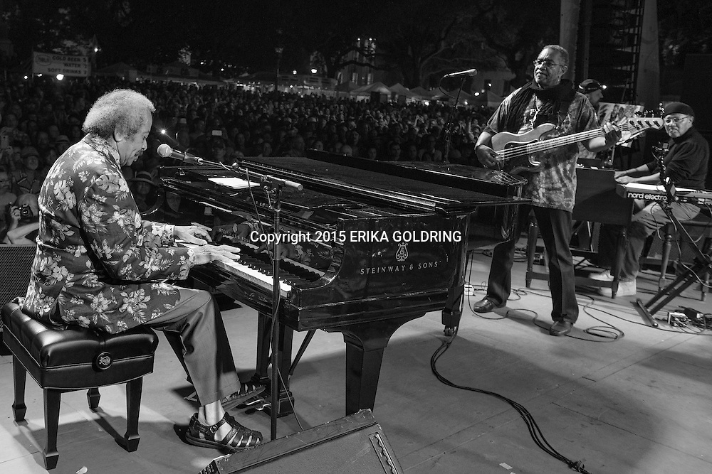 Allen Toussaint performs with George Porter, Jr. and Art Neville at the Crescent City Blues & BBQ Fest on October 17, 2015, in New Orleans, LA. © Erika Goldring - All Rights Reserved.