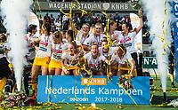 AMSTELVEEN -  Het team van Den Bosch na  de finale van de play-offs om de landtitel in het Wagenerstadion, tussen Amsterdam en Den Bosch (1-4). COPYRIGHT KOEN SUYK