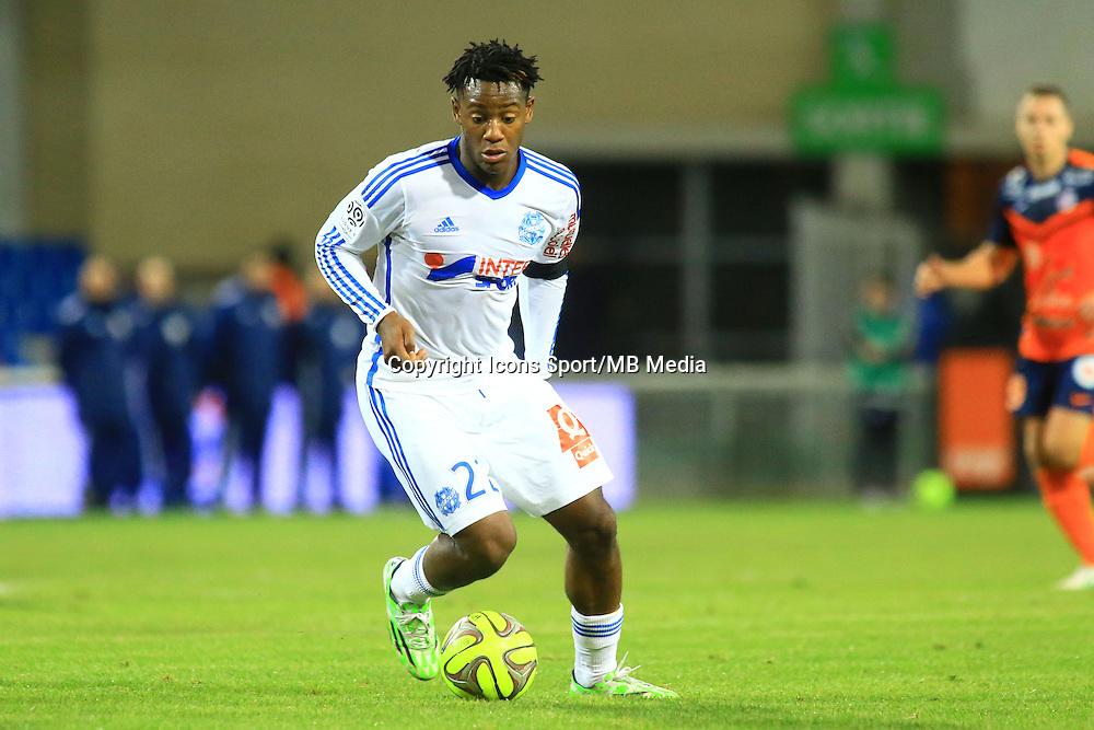Michy BATSHUAYI - 09.01.2015 - Montpellier / Marseille - 20eme journee de Ligue 1<br />Photo : Nicolas Guyonnet / Icon Sport