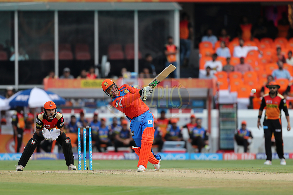 Jason Roy of the Gujarat Lions during match 6 of the Vivo 2017 Indian Premier League between the Sunrisers Hyderabad and the Gujarat Lions held at the Rajiv Gandhi International Cricket Stadium in Hyderabad, India on the 9th April 2017<br /> <br /> Photo by Ron Gaunt - IPL - Sportzpics