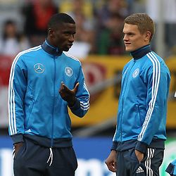 03.09.2014, Esprit-Arena, Duesseldorf, GER, FS Vorbereitung, Fussball Testspiel, Deutschland vs Argentinien, im Bild Antonio Ruediger (VfB Stuttgart - links) im Gespraech mit Matthias Ginter (SC Freiburg) // during a international football frindly match between Germany and Argentina in preparation for the upcoming EURO 2016 qualifying matches at the Esprit-Arena in Duesseldorf, Germany on 2014/09/03. EXPA Pictures © 2014, PhotoCredit: EXPA/ Eibner-Pressefoto/ Schueler<br /> <br /> *****ATTENTION - OUT of GER*****