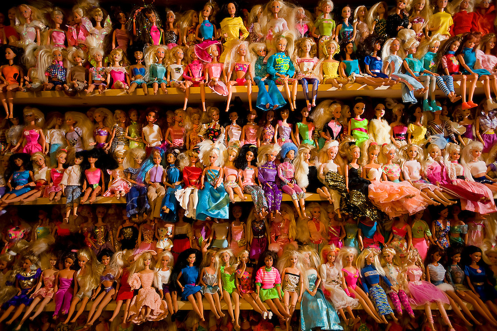 121610       Brian Leddy.Thousands of Barbie's line the walls of Sarah Ramsey's home.