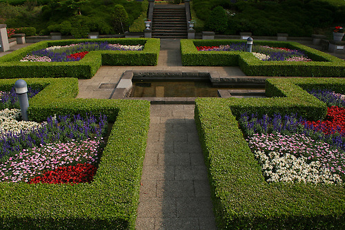 The Formal European Garden At Uchida House At Yamate Bluff   The Original  Foreign Settlement In.
