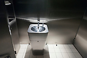 rust free metal washing basin in public toilette