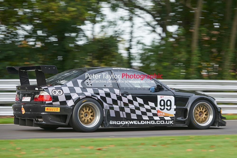#99 Martin WEBB BMW E46 M3 GTRduring GT Cup - Qualifying as part of the MSVR Oulton Park 10th October 2015 at Oulton Park, Little Budworth, Cheshire, United Kingdom. October 10 2015. World Copyright Taylor/PSP. Copy of publication required for printed pictures.  Every used picture is fee-liable. http://archive.petertaylor-photographic.co.uk