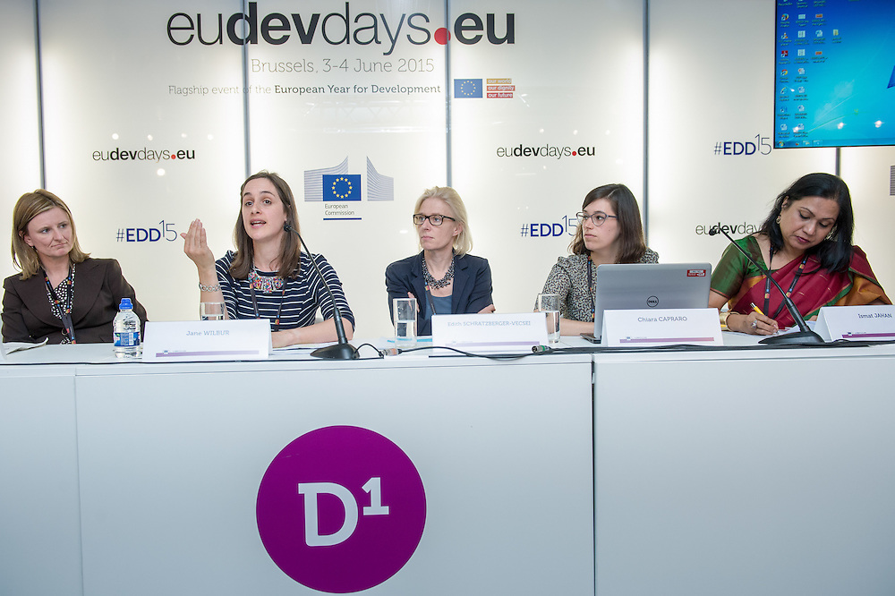 04 June 2015 - Belgium - Brussels - European Development Days - EDD - Gender - A matter of birth , life and death - Walking in the shoes of women and girls without access to water , sanitation and hygiene - Jane Wilbur , Equity , Inclusion and Rights Advisor , WaterAid © European Union
