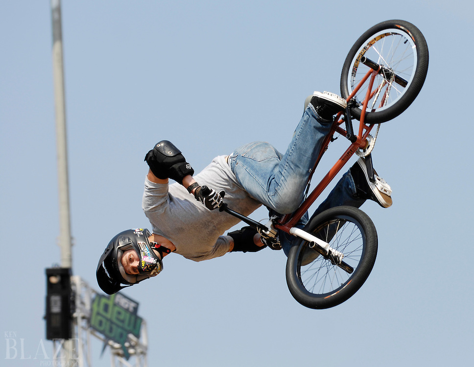 Art D'Ambrosio of Cable, WI. competes at the AST Dew Tour Right Guard Open BMX Vert prelims Thursday, July 17, 2008 in Cleveland, OH.