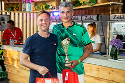 Tone Komar and Marko Lopatic at Trophy ceremony of RVO at Day 10 of ATP Challenger Zavarovalnica Sava Slovenia Open 2019, on August 18, 2019 in Sports centre, Portoroz/Portorose, Slovenia. Photo by Vid Ponikvar / Sportida