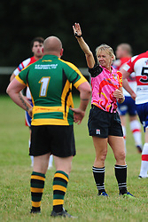 NICOLA REYNOLDS FEMALE RUGBY REFEREE Wellingborough Rugby RFC v Bugbrooke RFC, Midlands 1 East League, Cut Throat Lane Gound, Gt Doddington, Saturday 3rd September 2016