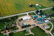 The Eugster Orchard Corn Maze near Stoughton, Wisconsin, USA.