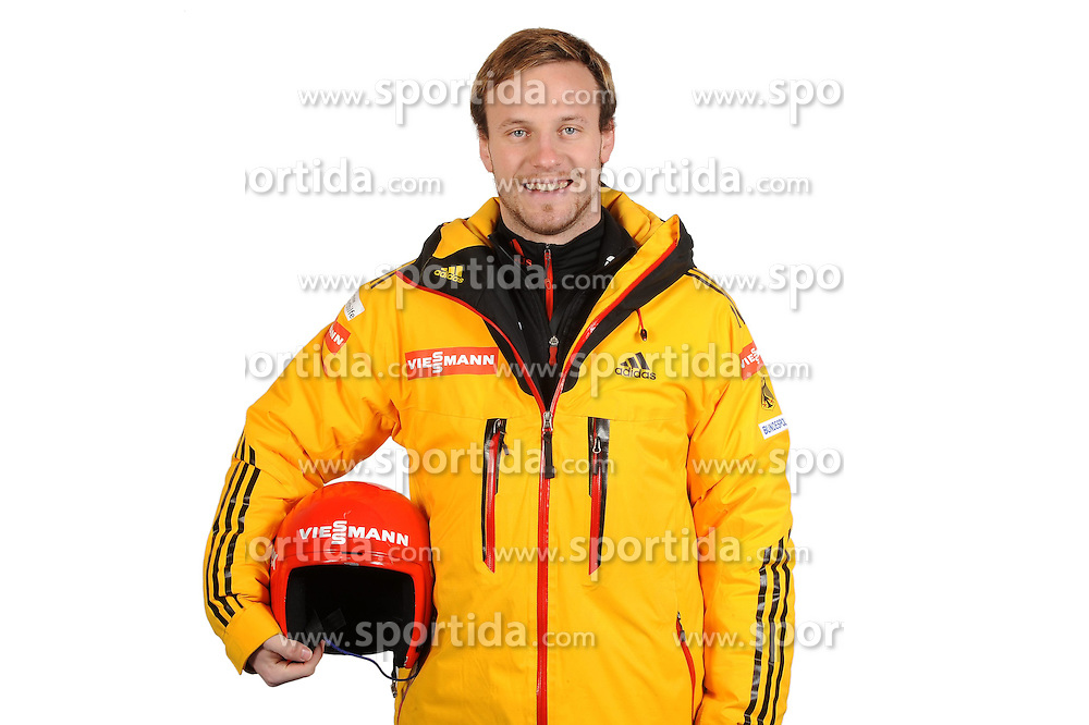 03.01.2014, Kunsteisbahn, Koenigssee, GER, BSD, Rennrodler Team Deutschland, Portrait, im Bild Tobias Arlt, (WSV Koenigssee) // during Luge athletes of team Germany, Portrait Shooting at the Kunsteisbahn in Koenigssee, Germany on 2014/01/04. EXPA Pictures &copy; 2014, PhotoCredit: EXPA/ Eibner-Pressefoto/ Stuetzle<br /> <br /> *****ATTENTION - OUT of GER*****