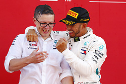 May 13, 2018 - Barcelona, Spain - Motorsports: FIA Formula One World Championship 2018, Grand Prix of Spain, ..Peter Bonnington, #44 Lewis Hamilton (GBR, Mercedes AMG Petronas Motorsport) (Credit Image: © Hoch Zwei via ZUMA Wire)
