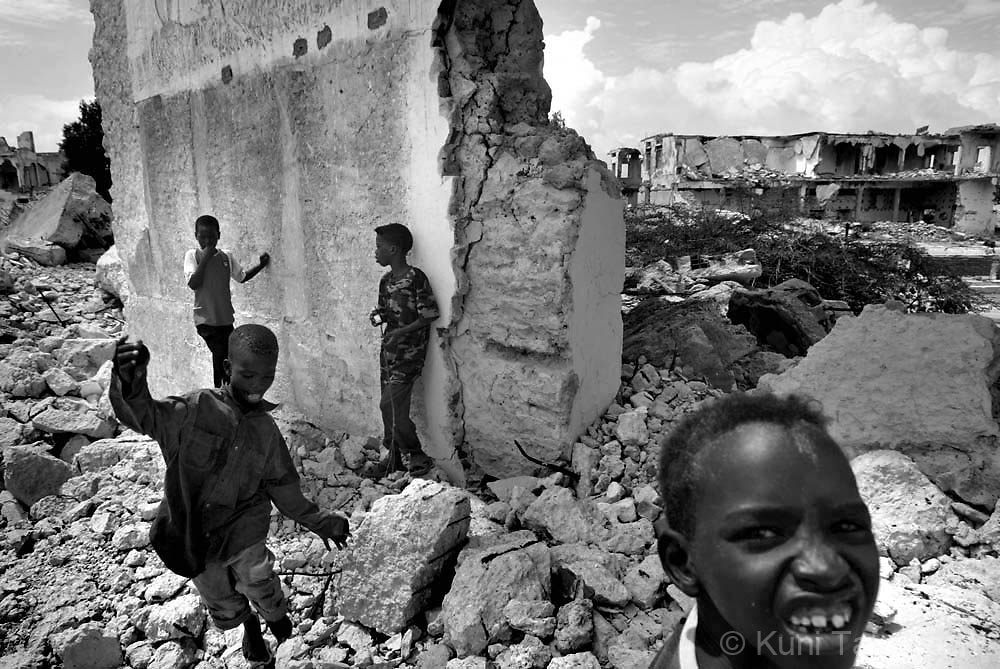 Somalia civil war conflict, refugees in 2007.