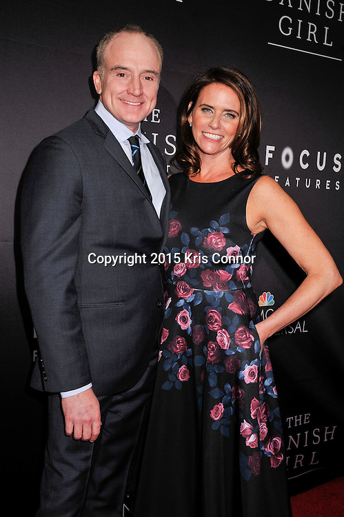 """Bradley Whitford and Amy Landecker, Transparent attend the DC premiere of Focus Features' """"THE DANISH GIRL"""" at the United States Navy Memorial in Washington DC on November 23, 2015.  (Photo by Kris Connor for Focus Features)"""
