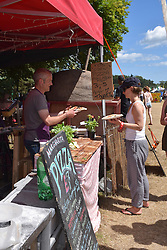 Pizza stall, Latitude Festival 2016, Henham Park, Suffolk, UK