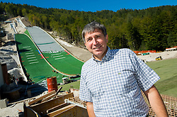 Jelko Gros at media day of Slovenian Ski jumping team during construction of two new ski jumping hills HS 135 and HS 105, on September 18, 2012 in Planica, Slovenia. (Photo By Vid Ponikvar / Sportida)