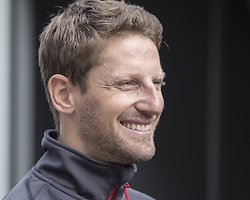 October 21, 2018 - Austin, USA - Haas driver Romain Grosjean (8) of France meets with guests before the start of the Formula 1 U.S. Grand Prix at the Circuit of the Americas in Austin, Texas on Sunday, Oct. 21, 2018. (Credit Image: © Scott Coleman/ZUMA Wire)