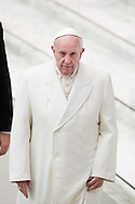 Vatican City dec 19th 2015, pope's audience to railway employers and workers. In the picture pope Francis