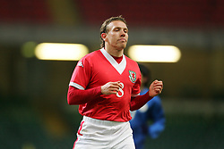 CARDIFF, WALES - WEDNESDAY, MARCH 1st, 2006: Wales' Craig Bellamy rues another miss during the International Friendly match against Paraguay at the Millennium Stadium. (Pic by Dan Istitene/Propaganda)