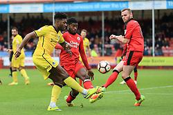 Ellis Harrison of Bristol Rovers shot is blocked - Mandatory by-line: Jason Brown/JMP - 05/11/2016 - FOOTBALL - Checkatrade.com Stadium - Crawley, England - Crawley Town v Bristol Rovers - Emirates FA Cup first round