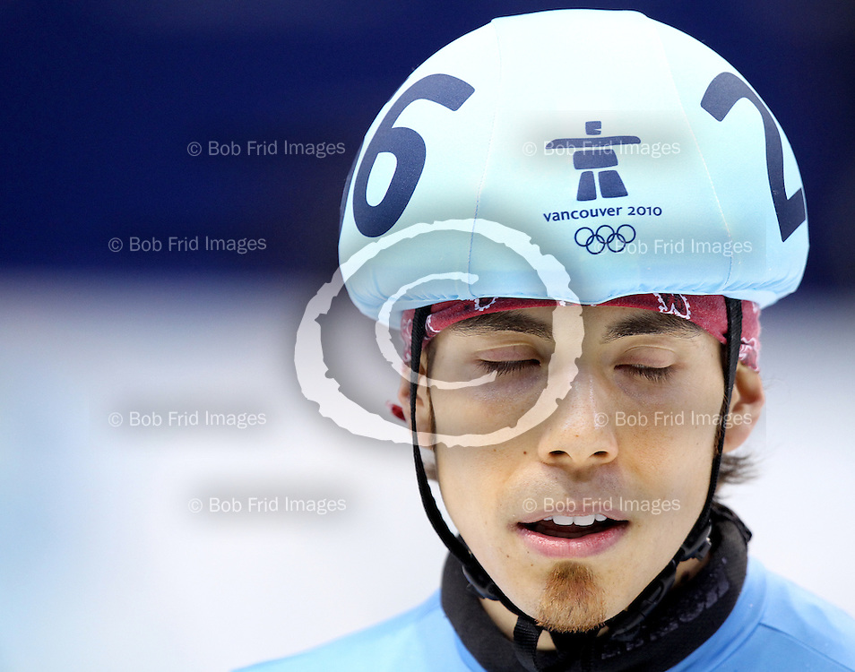 26 February 2010:  Apolo Anton OHNO from USA #256 during  short track speed skating held at the Pacific Coliseum during the Vancouver 2010 Winter Olympics  in Vancouver,  British Columbia, Canada..